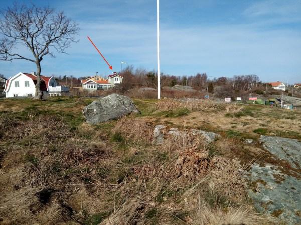 Tim Borgs hus. Kalhuggen kulle i utsikten.