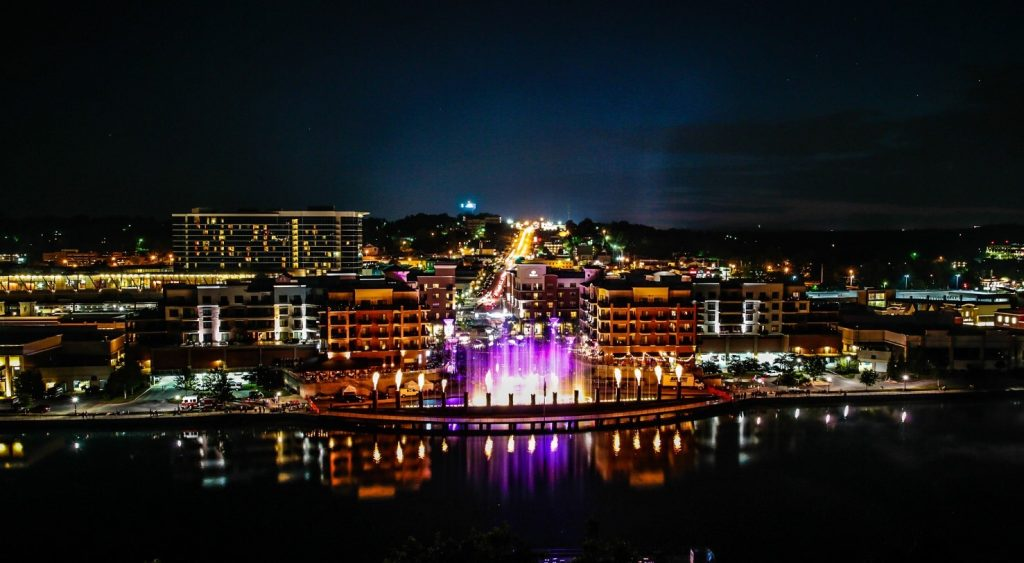 Branson_Landing_at_night_Branson_MO