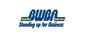 bwba blue and yellow logo