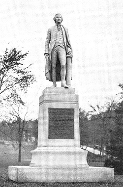 Photo of a Johnson statue in Johnstown, NY. Courtesy of http://www.digitalantiquaria.com/JOTM/index.html.