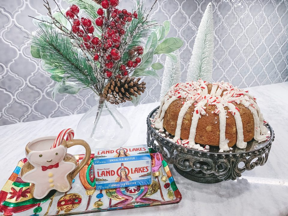 IMG 1210 scaled - White Chocolate Peppermint Bundt Cake