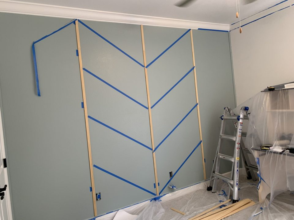 IMG 7811 scaled - DIY Herringbone Wall