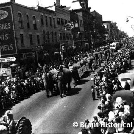 Parade on Colborne Street c. 1951