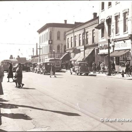 View of Downtown Brantford Market Street c. 1940