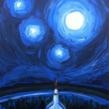mohawk chapel in moonlight