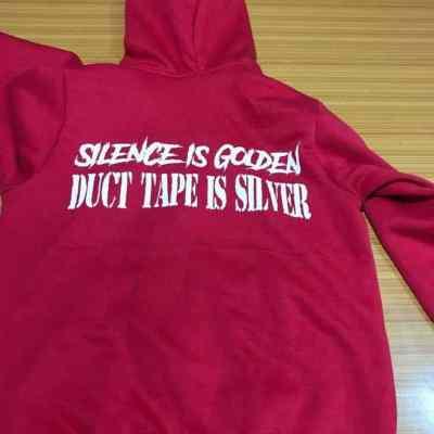 Brapp Straps Silence is Golden Zip Up Hoodie