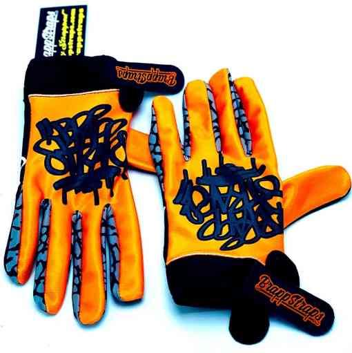 Orange Crush MX Glove by Brapp Straps