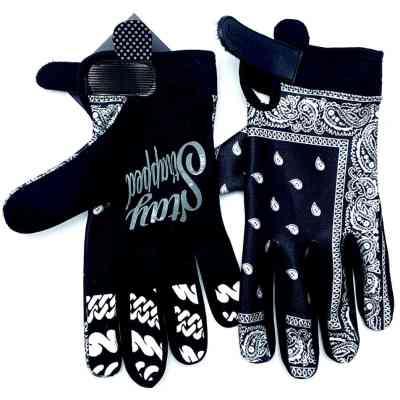 Black Bandana Chain Gang MX Gloves by Brapp Straps