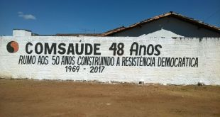 mural comsaude 48 anos