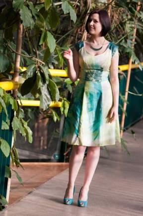 Biubiu Rouen Vert Dress