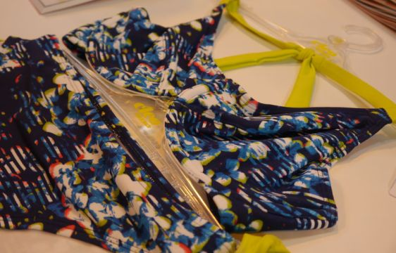 Cleo Swim Blaire Triangle Bikini Floral Stripe