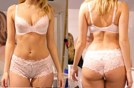 Lepel Fiore Padded Plunge Set in Soft Pink (AW16)