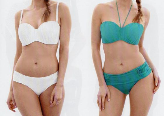 Panache Swim Marina Bandeau White Turquoise Catalogue