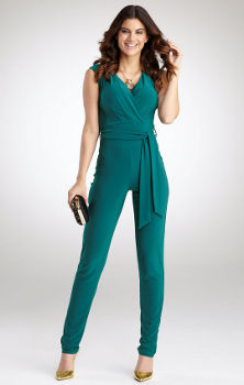 Pepperberry Tapered Leg Jumpsuit Teal