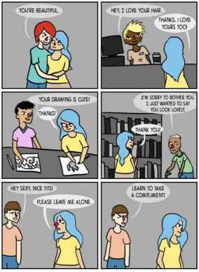 Please Stop Being Sad - Street harassment is not a compliment