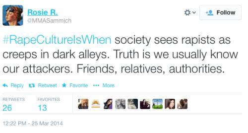Rape Culture Is When... Tweet - MMASammich