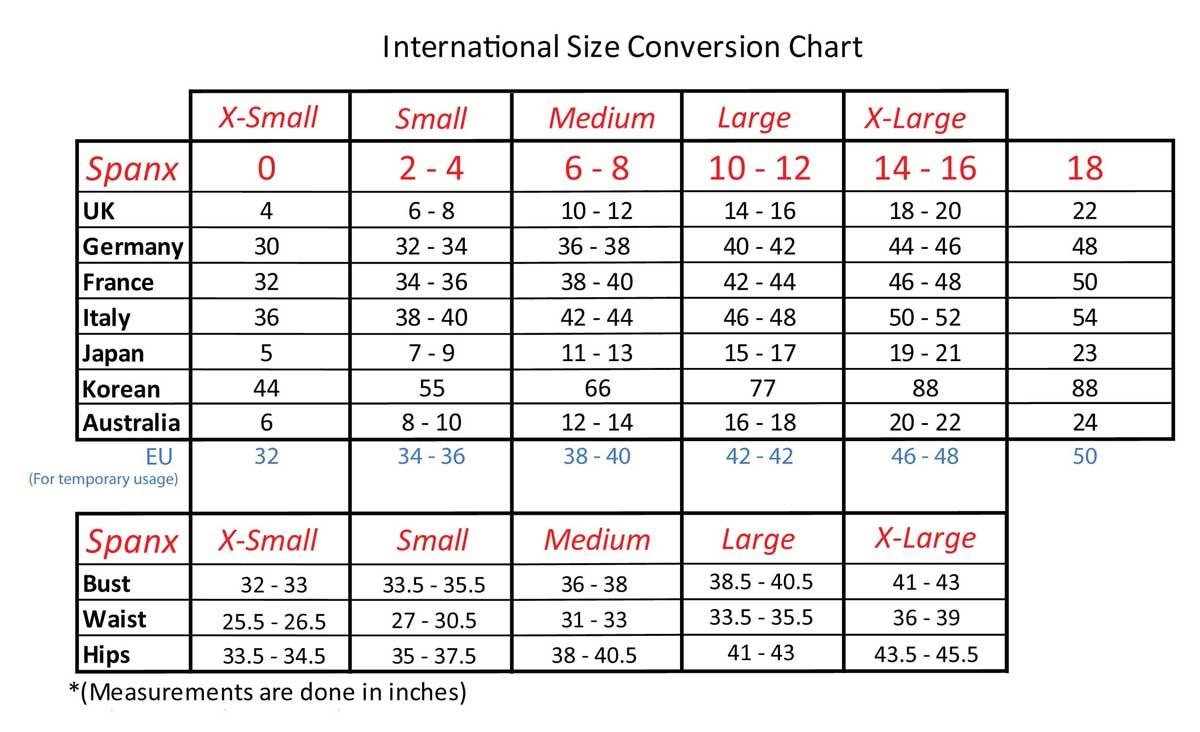 Bra Size Convertor And Bra Sizes Chart  Bras & Honey