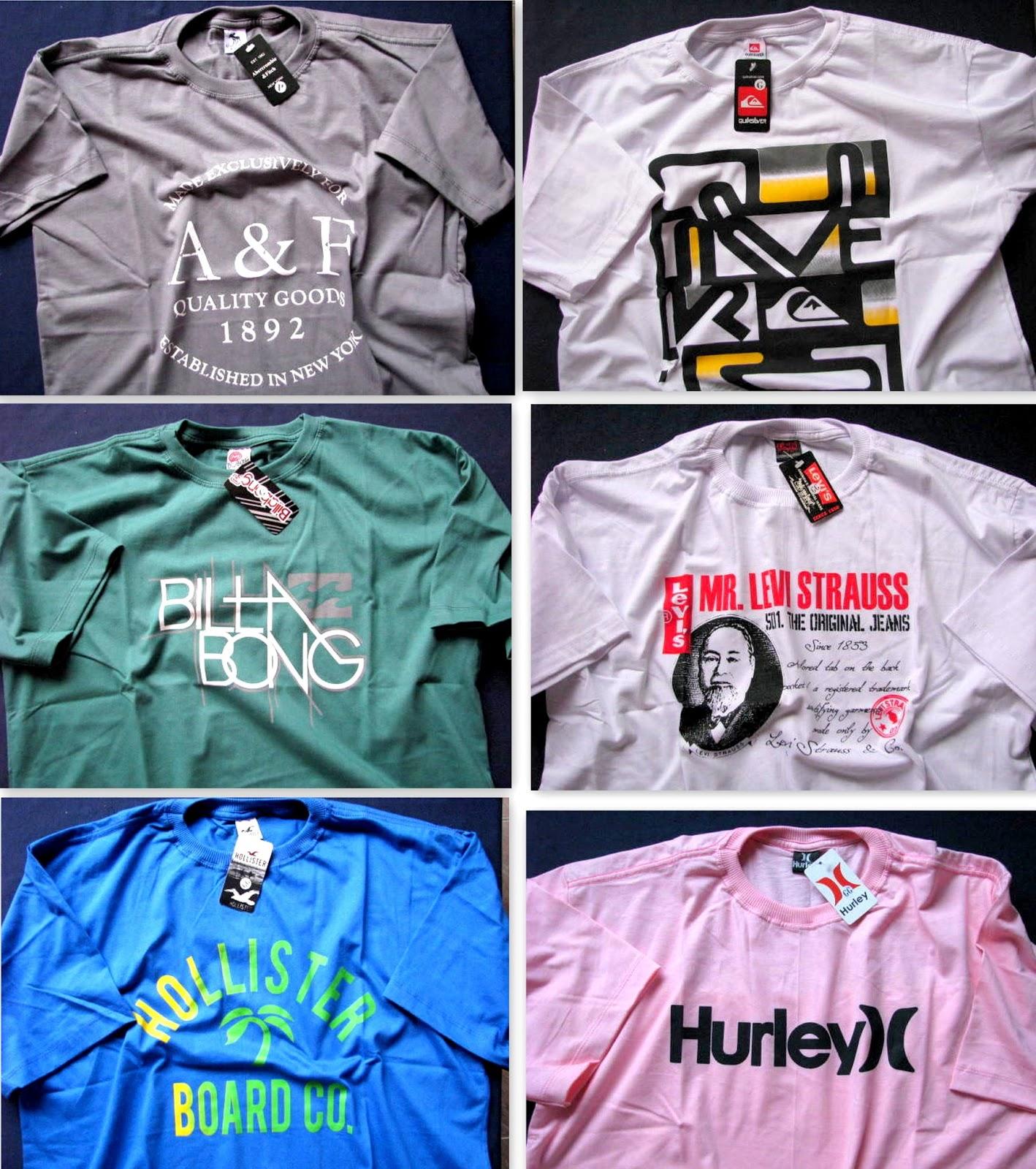 camisas estampadas com etiqueta e tags