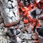 brasas y carbón