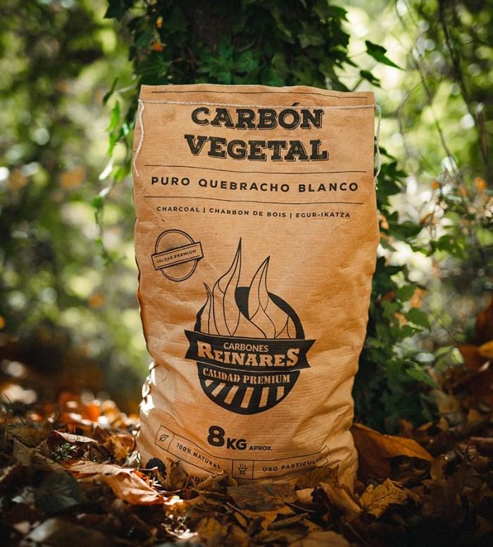 Carbón vegetal quebracho blanco calidad premium 8kg bosque