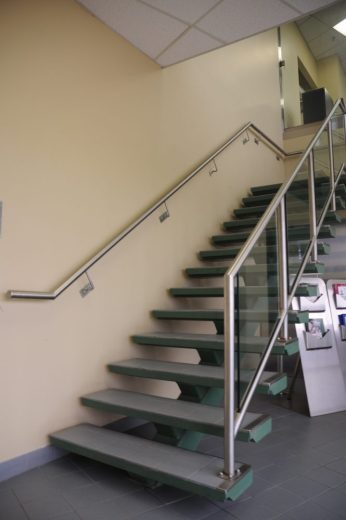 Stainless Steel Handrails w/ Glass & Stainless Steel Guardrail