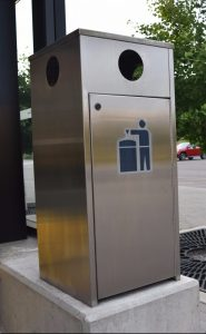 Stainless Steel Waste Receptacle