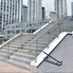 Outdoor Stainless Steel & Glass Staircase