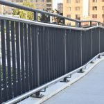 Painted Steel Picket Rails with Stainless Steel Handrails