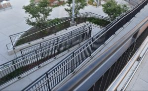 Birds-Eye View of Ramp Railings