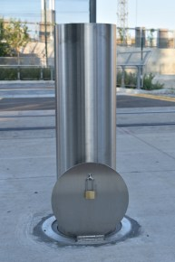 Removable Stainless Steel Bollard w/ Cover Lid