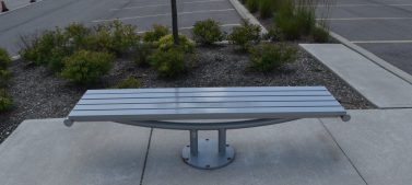Painted Steel Bench