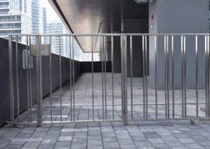 Stainless Steel Picket Railings & Gate