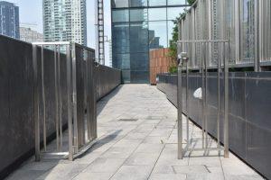 Stainless Steel Picket Railings & Gate (Opened)