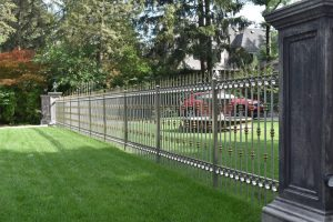 Stainless Steel w/ Decorative Brass Accents Fence