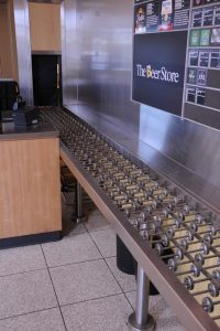 Stainless Steel Back-Splash w/ Non-Motorized Conveyor