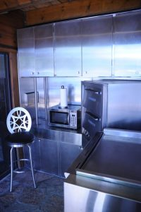 Stainless Steel Back-Splash & Cabinets