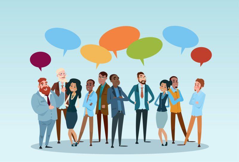 comunicação entre pessoas em inglês