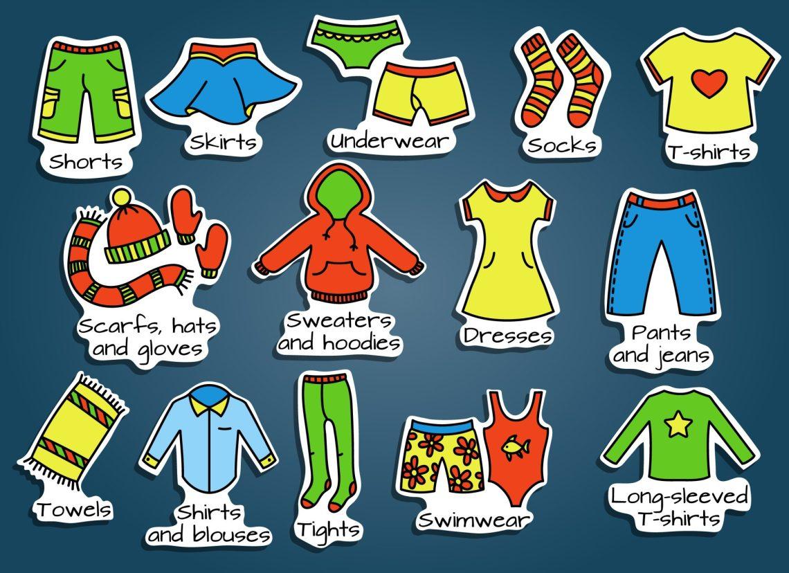 nomes das roupas em inglês