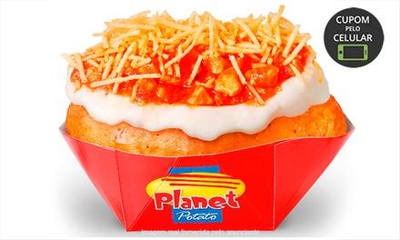 1 ou 2 batatas recheadas + 1 ou 2 refrigerantes (opção com sobremesa) no Planet Potato – Guarulhos