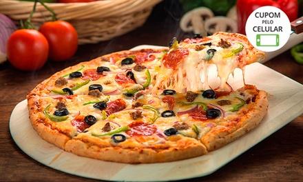 Delivery de 1 ou 2 pizzas grandes com até 3 sabores no Fornão – Rio Branco