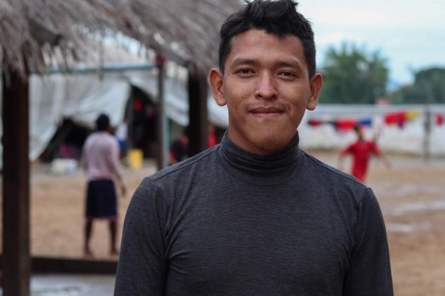 Jhon, indígena Warao, no abrigo Pintolândia, em Boa Vista.