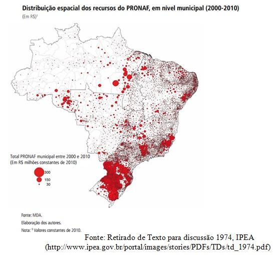 mapa distribuição pronaf