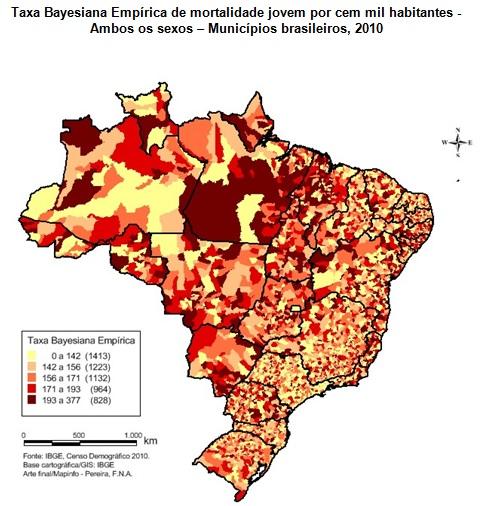mapa taxa bayesiana