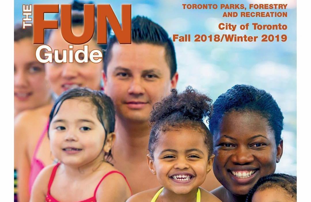 Inscrições para os programas de recreação da cidade de Toronto