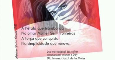 Comemoração ao Dia Internacional da Mulher no bairro de Santo Amaro em Recife