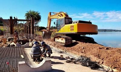 Concretagem da obra de captação no Lago Paranoá está quase concluída