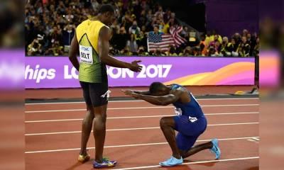 Bolt é superado e dá adeus com reverência rival