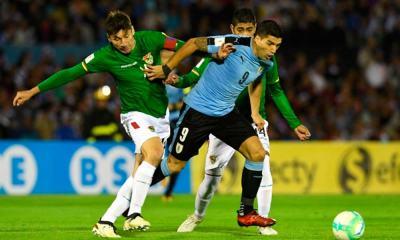 Uruguai derrota a Bolívia por 4 a 2 e assegura classificação à Copa de 2018