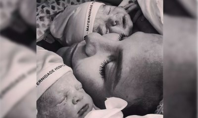Marido de Ivete Sangalo posta foto das gêmeas Helena e Marina