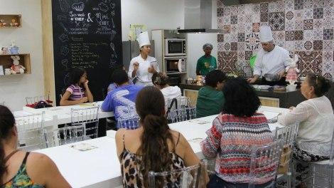 Oficinas gastronômicas gratuitas